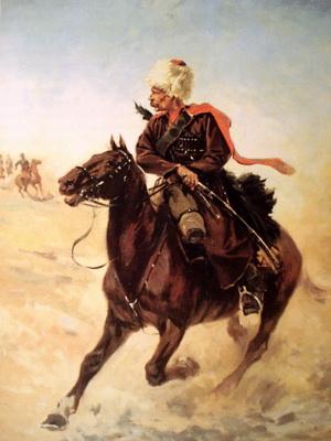 Всадник дагестанского конного полка